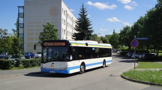 Umleitung Bus-Linie 12 – Vollsperrung  Schrödingerstraße