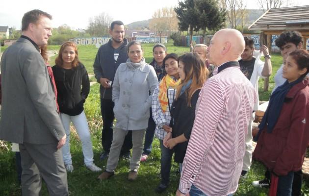 Ministerieller und internationaler Besuch im Stadtteilgarten Winzerla