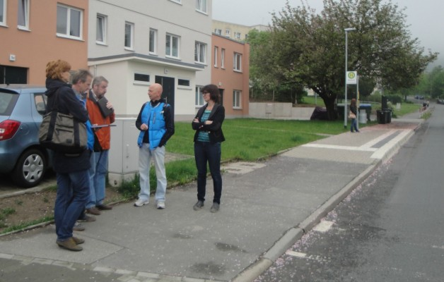 Fußgängerüberweg in der Oßmaritzer Straße