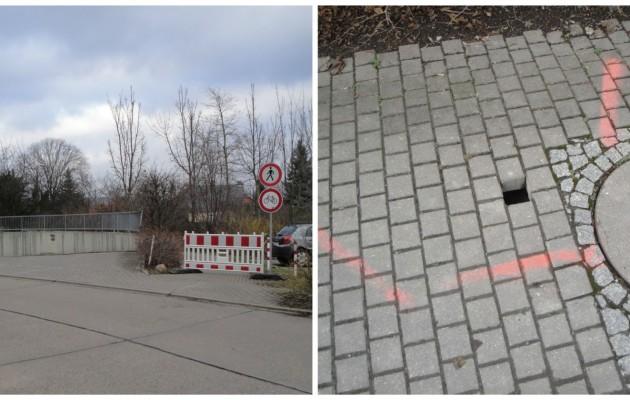 Fußweg in der Max-Steenbeck-Straße 21 unterspült