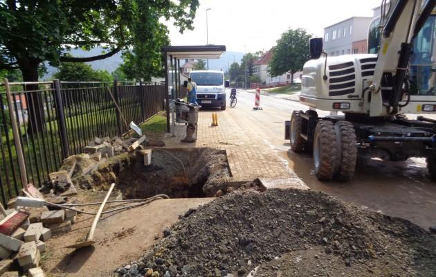 Wasserleitungsschäden in Winzerla