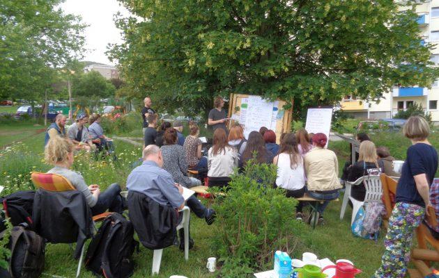 Praxisprojektgruppe präsentierte ihre Ergebnisse im Stadtteilgarten