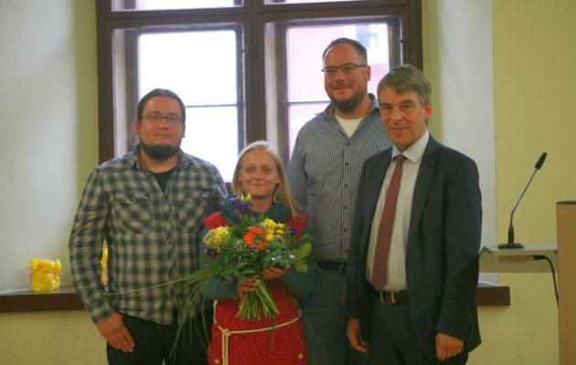 Stephanie Hiebsch erhielt den Preis für Zivilcourage