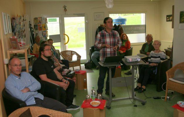 Hussein Saleh war Gast im Erzählcafé in Winzerla