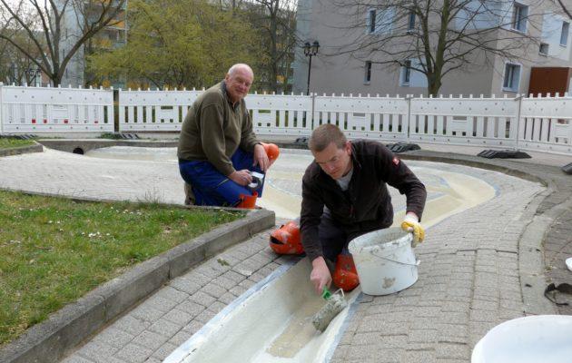Abschluss der Sanierungsarbeiten an der Wasserrinne