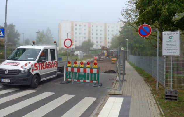 Teilsperrung Schrödingerstraße