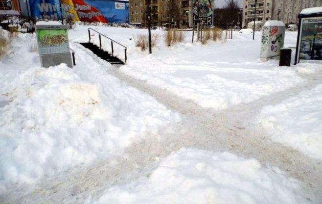 Winterfreude und Schneechaos in Winzerla