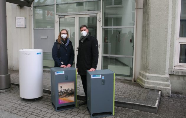 Luftreiniger im Einsatz – Corona-Viren werden herausgefiltert