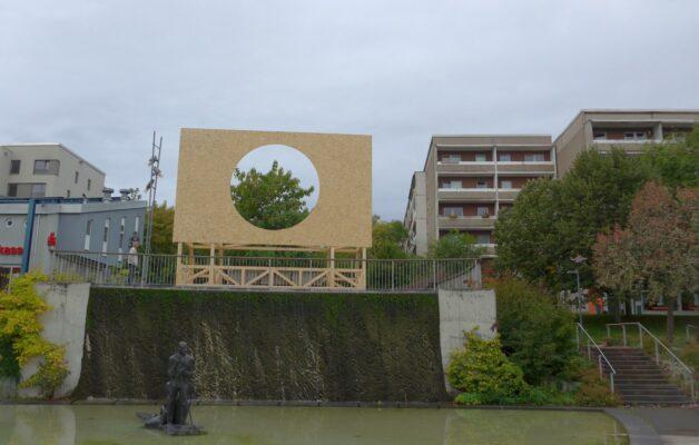 Künstlerische Intervention anlässlich des Tags der deutschen Einheit 2021